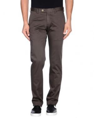 Повседневные брюки GERMANO. Цвет: темно-коричневый
