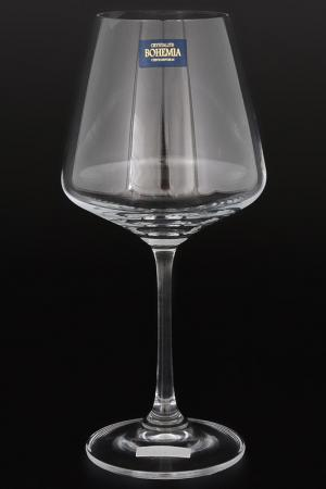 Набор бокалов для вина 360 мл Crystalite Bohemia. Цвет: прозрачный