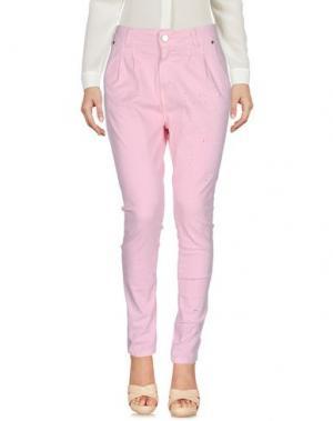 Повседневные брюки MIVITE. Цвет: розовый