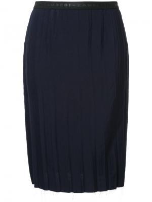Узкая юбка со складками Zambesi. Цвет: чёрный