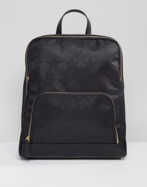 QUPID Рюкзак со звездами. Цвет: черный