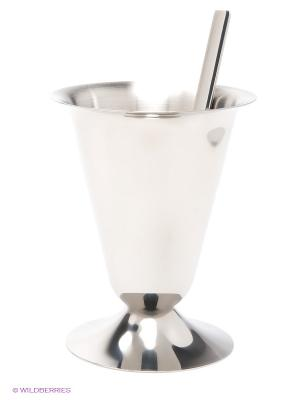 Креманка д/мороженого с ложкой MAYER-BOCH. Цвет: серебристый