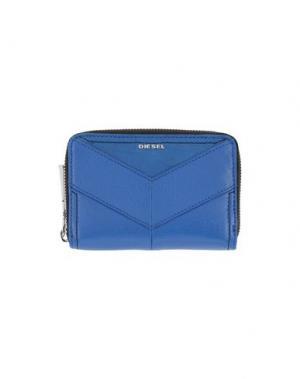Бумажник DIESEL. Цвет: синий