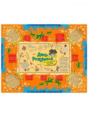 Скатерть праздничная с играми А М Дизайн. Цвет: малиновый, оранжевый, темно-бежевый