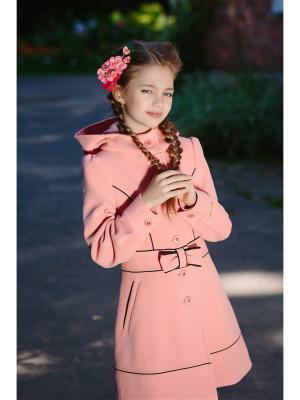 Пальто DUWALI. Цвет: персиковый