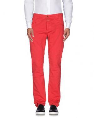 Повседневные брюки CLOSED. Цвет: красный