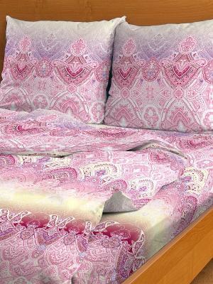Комплект постельного белья Letto B92-4, бязь, 2,0-сп. Цвет: розовый
