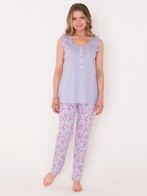 Пижама женская Лори. Цвет: серый