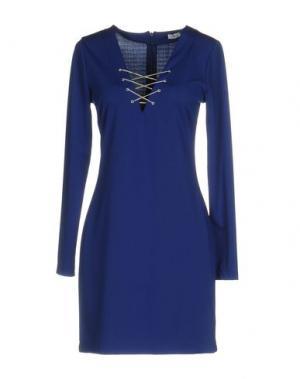 Короткое платье DANIELA FARGION. Цвет: ярко-синий