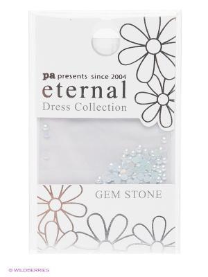 Стразы-камушки для ногтевого дизайна Cветлый сапфир жемчуг 2мм ETERNAL Dress Collection Gem Stone PA presents since 2004. Цвет: голубой