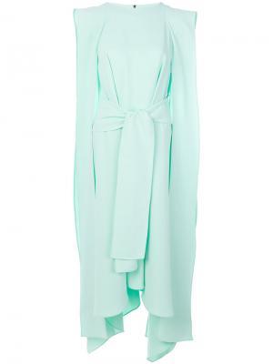 Платье-кафтан с поясом Maticevski. Цвет: зелёный