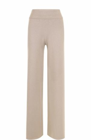 Расклешенные кашемировые брюки malo. Цвет: бежевый