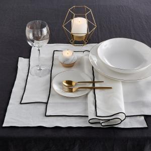 4 салфетки под тарелку льняные Taraka AM.PM.. Цвет: белый