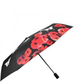 Складной зонт с принтом, меняющим цвет FLIORAJ. Цвет: черный