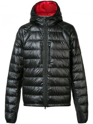 Куртка с капюшоном и отверстиями для больших пальцев Canada Goose. Цвет: чёрный