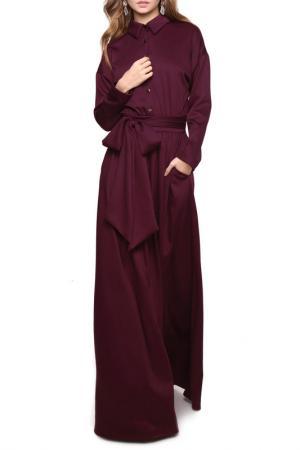 Платье MARICHUELL. Цвет: сливовый