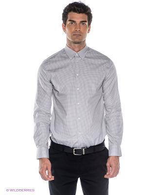Рубашка INCITY. Цвет: темно-серый, светло-серый
