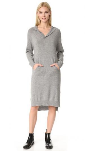 Платье-свитер с капюшоном Darby JENNY PARK. Цвет: серый меланж