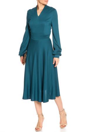 Платье трикотажное NATALIA PICARIELLO. Цвет: морская волна