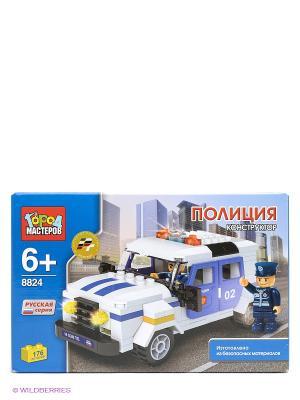 Конструктор Полиция Город мастеров. Цвет: голубой, белый