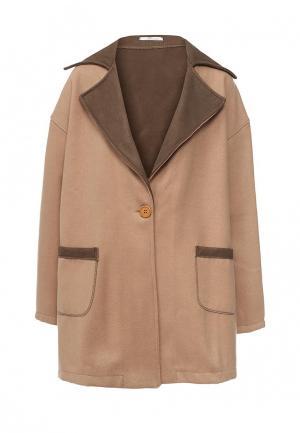 Пальто Aurora Firenze. Цвет: бежевый