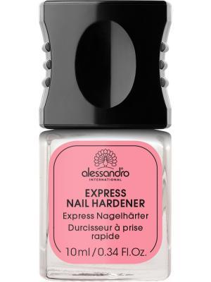 Средство для укрепления всех типов ногтей Express Nail hardener alessandro. Цвет: молочный