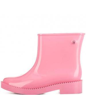 Розовые полусапоги из ароматизированного материала Melissa. Цвет: розовый