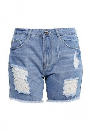 Шорты джинсовые By Swan. Цвет: голубой