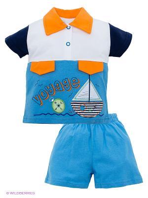 Комплект Volypok. Цвет: голубой, белый, оранжевый