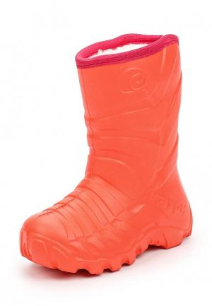 Резиновые сапоги Каури. Цвет: оранжевый