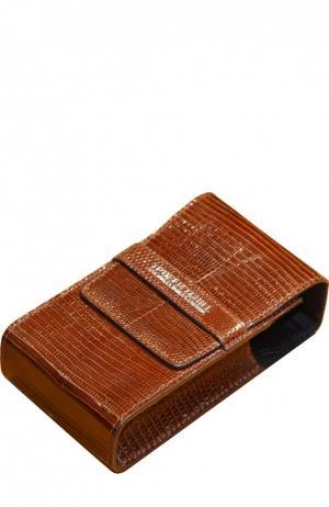 Чехол для станка и помазка из кожи игуаны светло-коричневого цвета Truefitt&Hill. Цвет: бесцветный