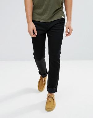 Edwin Темные джинсы скинни прямого кроя ED-90. Цвет: синий