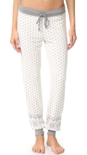 Пижамные брюки PJ Salvage. Цвет: коричневый