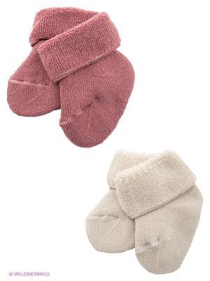 Носки, 2 пары Malerba. Цвет: молочный, розовый
