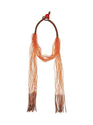 Колье Kameo-bis. Цвет: оранжевый, коричневый
