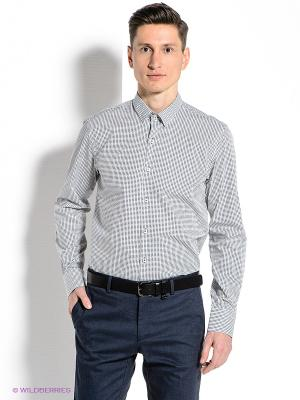 Рубашка MONDIGO. Цвет: синий, белый