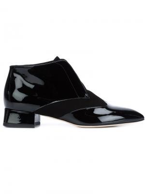 Ботинки с заостренным носком Olgana. Цвет: чёрный