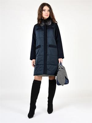 Пальто GRAFINIA. Цвет: темно-синий