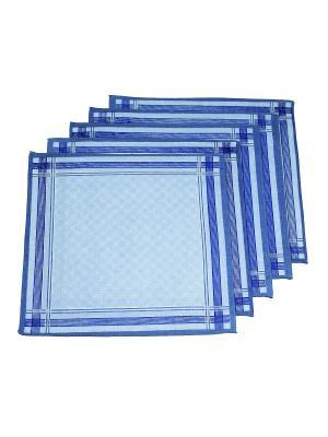 Платок, 10 шт Римейн. Цвет: голубой, синий