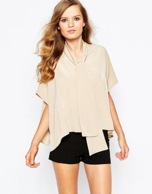 The Laden Showroom Рубашка с завязкой‑бантом X Mirror. Цвет: бежевый