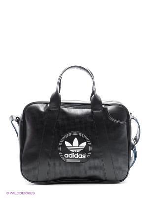 Сумка AIRLINER PERF adidas. Цвет: черный, белый