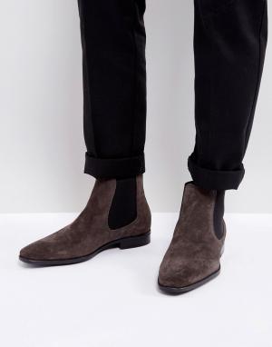 KG Kurt Geiger Замшевые ботинки челси Frederick. Цвет: серый