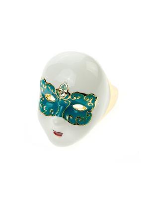 Кольцо Bijoux Land. Цвет: белый, голубой, золотистый