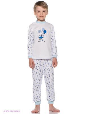 Пижама КОТМАРКОТ. Цвет: белый, синий, голубой