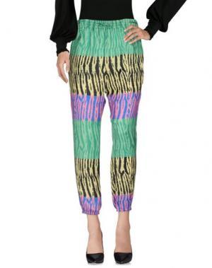 Повседневные брюки BEAYUKMUI. Цвет: светло-зеленый