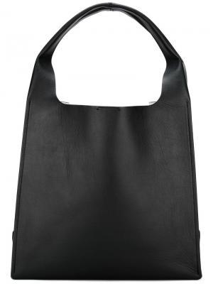 Структурированная сумка-тоут Maison Margiela. Цвет: чёрный