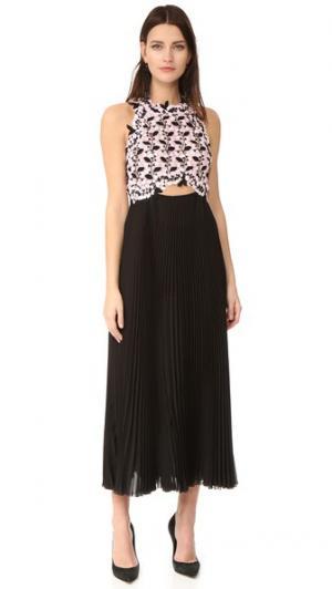 Длинное платье без рукавов Giambattista Valli. Цвет: черный/розовый