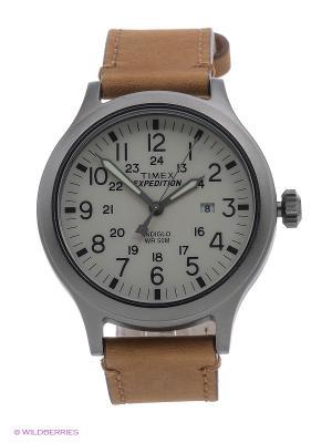 Часы TIMEX. Цвет: серый, коричневый