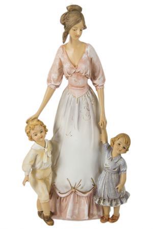 Статуэтка Счастливая мать Русские подарки. Цвет: белый, розовый, голубой