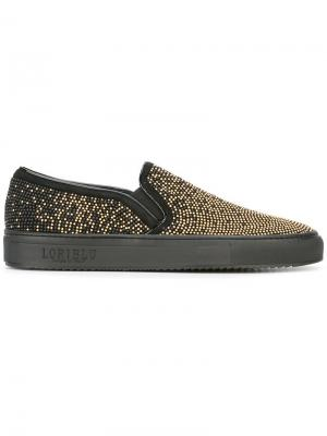 Embellished slip-on sneakers Loriblu. Цвет: чёрный